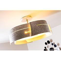 Design Deckenlampe Novara silber farben