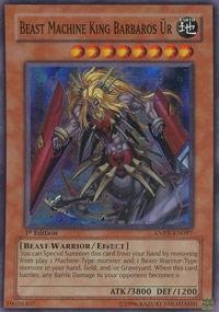 Yu-Gi-Oh! - Beast Machine King Barbaros Ur (ANPR-EN097) - Ancient Prophecy - 1st Edition - Super Rare