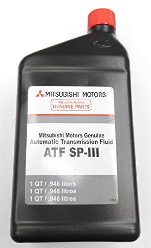 Genuine Mitsubishi Diaqueen SPIII SP3 Transmission Fluid - 5 Quarts - MZ320200 Lancer Diamante Eclipse Galant Endeaver Mirage Montero Montero Sport Outlander (2003 - 2006) Expo LRV 3000GT Pickup with Automatic Transmission (Lancer Transmission compare prices)