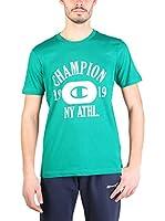 Champion Camiseta Manga Corta (Verde / Blanco)
