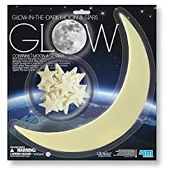 [Best price] Kids&#039 - 4M Glow-In-The-Dark Stars moon and stars (1 Mooon, 12 stars) - toys-games