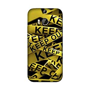 Abhivyakti Funny Keep Out Hard Back Case Cover For HTC M8