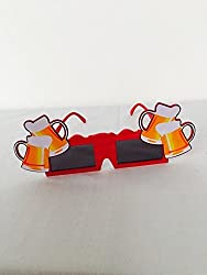 Funcart Red Square Sunglasses With Beer Glasses