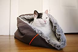 P.L.A.Y. Pet Lifestyle and You Snuggle Pet Bed, Small, Husky Gray