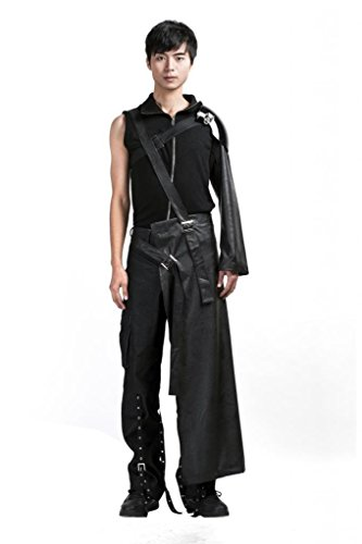 [Mtxc Men's Final Fantasy VII Cosplay Costume Cloud Strife Outfit Size XXX-Large Black] (Cloud Halloween Costume Final Fantasy Vii)