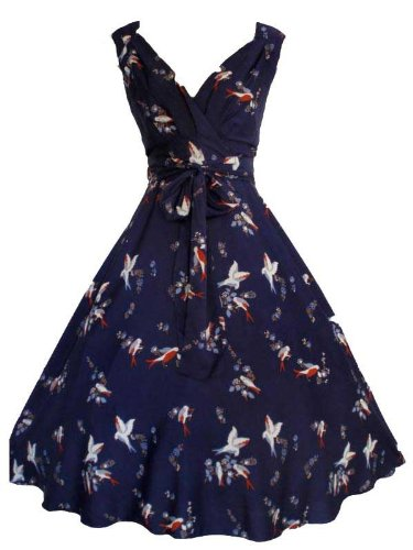 New Ladies Kushi Vintage Retro 50s Swing WW2 Rockabilly Party