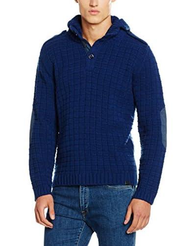 Trussardi Jeans Jersey Lana Azul Marino