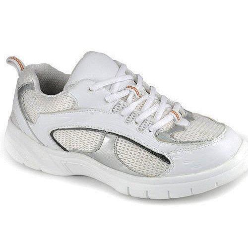 Apis Mt. Emey 9701-3 Men'S Therapeutic Extra Depth Shoe: White/Silver 13 Xx-Wide (6E) Lace front-322431