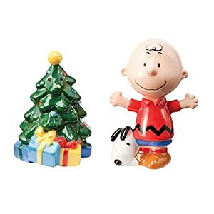 Peanuts Holiday Charlie Brown Salt and Pepper Shaker Set