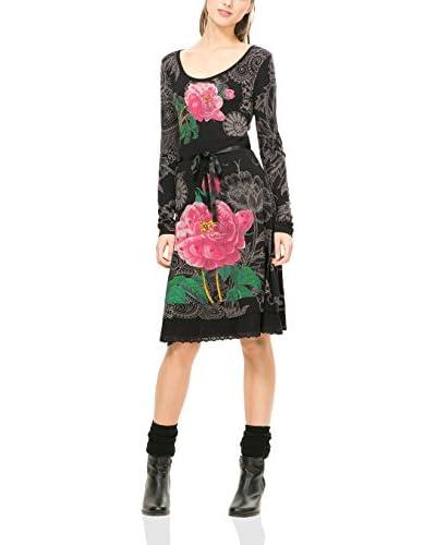 Desigual Kleid schwarz/grau