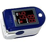 """Pulox PO-100 Pulsoximeter mit LED-Anzeige, blau, inkl. Hardcase, Duracell Bat., Schutzh�lle, Nylontasche und Tragebandvon """"PULOX"""""""