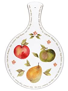 orchard fruits melamine covered paddle chopping board