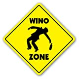 WINO ZONE Sign novelty gift dinker booze wine