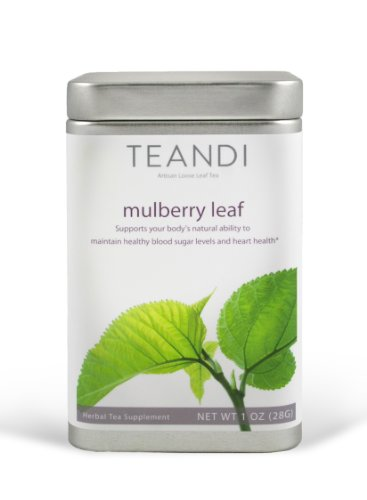 White Mulberry Tea (Morus Alba) By Teandi. Premium, All Natural, Pesticide Free. Loose Leaf, 1 Ounce, 28G (About 23 Servings)