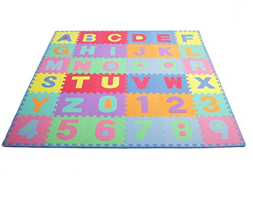 ProSource-Kids-Puzzle-Alphabet-Numbers-36-Tiles-and-Edges-Play-Mat-12-by-12