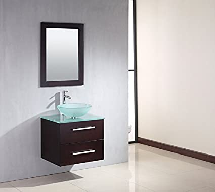 24 inch Carina Single Bathroom Vanity - Glass Vessel