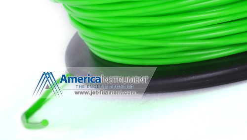 Jet - ABS (1.75mm, Green color, 1.0kg =2.204lbs) Filament on Spool for 3D Printer MakerBot RepRap MakerGear Ultimaker & Up!