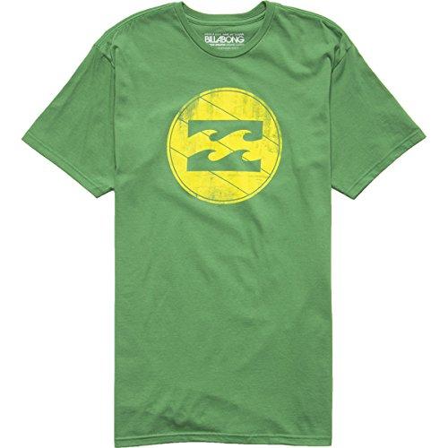 Billabong Mens Shield Short-Sleeve Shirt, Kelly Green, 2X-Large front-1040393