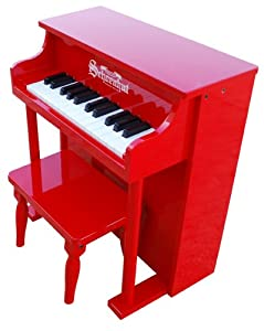 Schoenhut 25 Key Traditional Spinet Upright Piano (Red)
