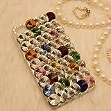 ◆3Dデコ盛り♪♪キラキラ♪ラインストーンケース/iphone5/アイフォン5/専用ケースカバー/マルチ①