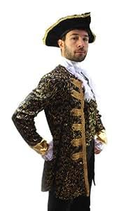 Kostüm Edelmann Pirat Kapitän Barock Herren Gr. 56 Pirate, Nobleman