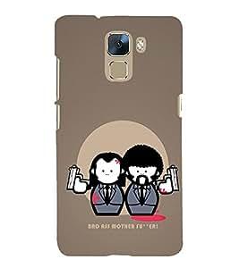 EPICCASE Bad Ass Mobile Back Case Cover For Huawei Honor 7 (Designer Case)
