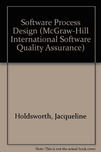 Software Process Design (McGraw-Hill International Software Quality Assurance)