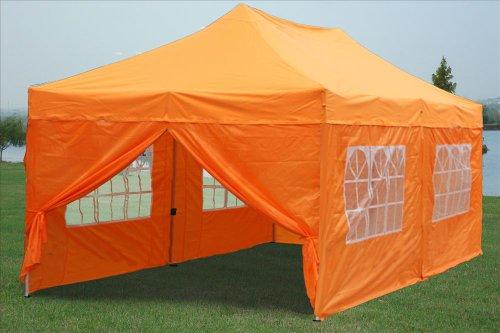 10×20 Pop up 6 Walls Canopy Party Tent Gazebo Ez Orange – G Model 2013 Upgraded New Model, Outdoor Stuffs