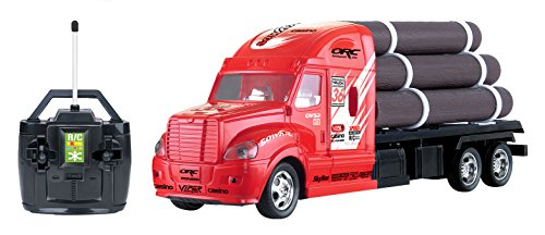 R/C Remote Control Semi Truck Tractor Trailer Flatbed w/ Logs (Semi Trucks Rc compare prices)