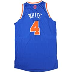 James White Jersey Warmup Shirt - NY Knicks 2012-2013 Season Game Used Blue Jersey... by Steiner Sports
