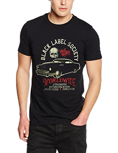 Plastic Head Black Label Society Hell Riding Hot Rod, T-Shirt Uomo, Nero, X-Large