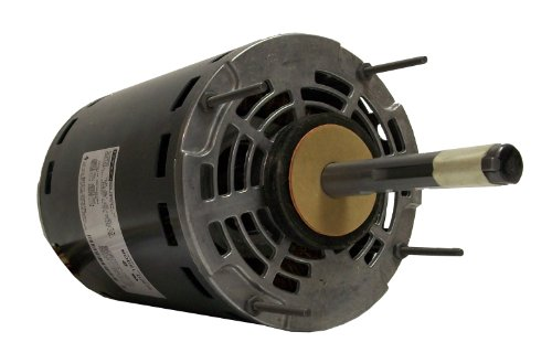 Fasco D2816 5.6-Inch Diameter PSC Motor, 1-1/2-1/3 HP, 115 Volts, 1075 RPM, 3 Speed, 11.8-6.3-3.9 Amps, REV Rotation, Ball Bearing
