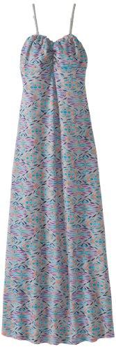 T 2 Love Big Girls' Aztec Bandeau Maxi Dress, Light Grey, 12
