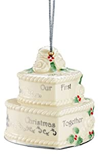 """Lenox 2013 """"Our 1St Christmas Together"""" Cake Hanging Ornament"""