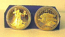 1933 Liberty Gold Proof-Like Coin Replica