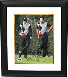 Buy Graeme McDowell Autographed Hand Signed 8x10 Photo Custom Framed Ryder Cup w  Rory McIlroy- PSA... by Hall of Fame Memorabilia