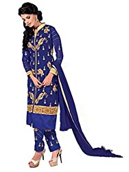 Inddus Blue Colored Georgette Salwar Kameez