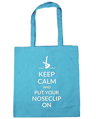 hippowarehouse-keep-calm-and-put-your-noseclip-on-synchronized-tote-shopping-gym-beach-bag-42cm-x38c