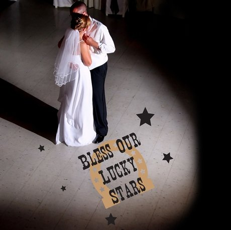 Bless Our Lucky Stars Removable Wedding Dance Floor Decal