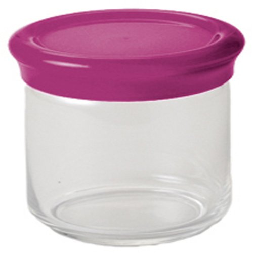 Kdg International Omada Trendy Glass Food Storage Container, 0.75-Liter, Plum