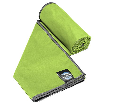 Youphoria Sport Towel and Travel Towel - Super Absorbent and Quick Drying! Camping, Beach, Pool, Gym or Bath. 100% Satisfaction Guarantee! (Green/Gray, 32