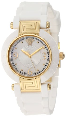 Versace Women's 92QCP1D497 S001 Reve Gold/White Rubber Watch