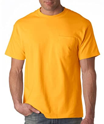 Hanes Beefy-T Adult Pocket T-Shirt 5190 S, Gold
