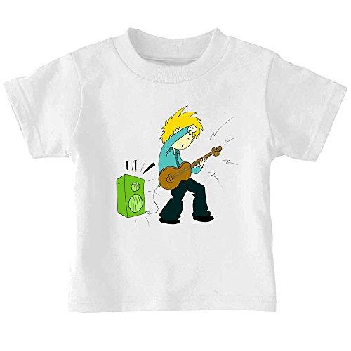 Little Boy Playing Electric Guitar Baby Toddler Kid T-Shirt Tee - 6Mo Thru 7T 6 Months