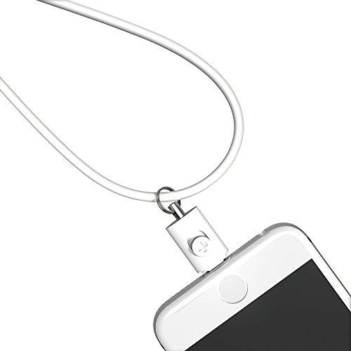 Simplism Lightningコネクター用ネックストラップ ホワイト  TR-LSI-WT