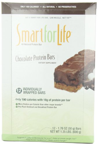 Smart for Life Protein Bar, Chocolate, 1.76 Ounce (Pack of 12)