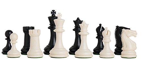 the-zurich-plastic-chess-set-pieces-only-3875-king-black-white-by-us-chess-federation