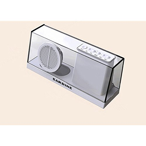 Latest Portable Stereo Bluetooth Speakers with Enhanced Bass Resonator, FM Radio, Built-in Mic, LED Display, 3.5 mm Audio Jack, support TF card/Micro SD card and USB input, up to 35ft Bluetooth Range, up to 5 Hours Playtime, support MP3, WAV, WMA, APE, FLAC format audio file SDY033(White)