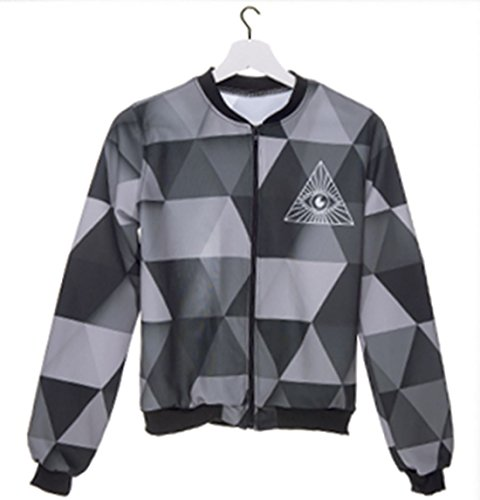 Kukubird Brand New Exclusive Summer Range Various Pattern Emoji Styled Bomber Jackets - Eye Triangle