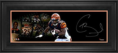 "Giovani Bernard Cincinnati Bengals Framed Autographed 10"" x 30"" Filmstrip Photograph - Fanatics Authentic Certified"